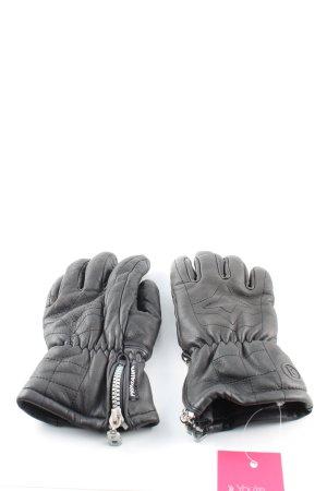 Bogner Lederhandschuhe schwarz Casual-Look