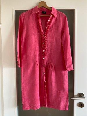Bogner : Leinen Kleid in pink mit schönen Details