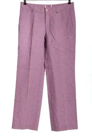 Bogner Pantalon en lin violet moucheté style décontracté