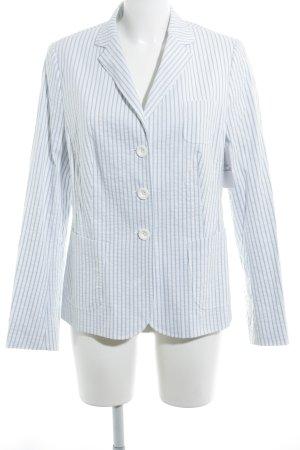 Bogner Long-Blazer himmelblau-weiß Streifenmuster Business-Look