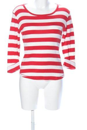 Bogner Longsleeve weiß-rot Streifenmuster Casual-Look