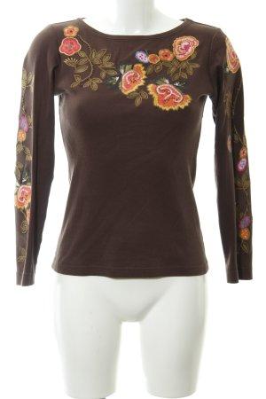 Bogner Longsleeve braun florales Muster Casual-Look