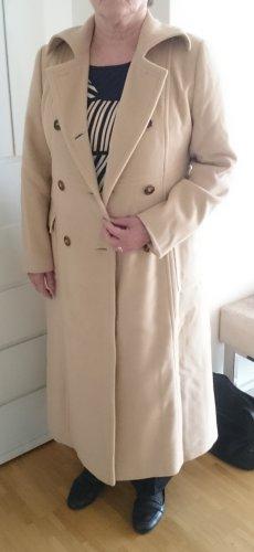 Bogner Mantel lang beige Creme Angora Schurwolle Gr. 42 (UVP: 649€)