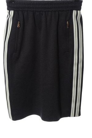 Bogner Minigonna nero-bianco motivo a righe stile casual