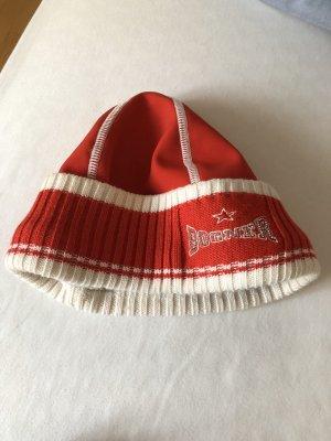 Bogner Chapeau en tricot rouge brique tissu mixte