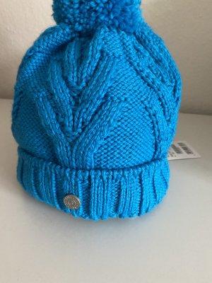 Bogner Sombrero de punto turquesa Lana