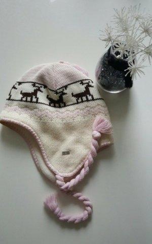 Bogner Bobble Hat white-dusky pink