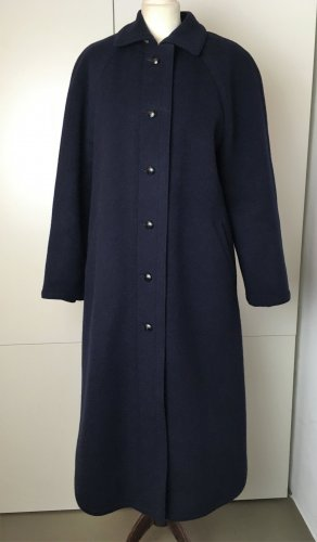 Bogner Wool Coat dark blue wool