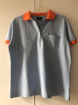Bogner Polo shirt azuur-neonoranje