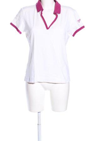 Bogner Polo-Shirt weiß-pink sportlicher Stil