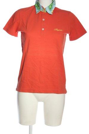Bogner Polo-Shirt hellorange Motivdruck Casual-Look