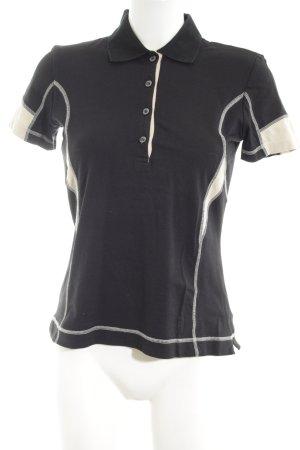 Bogner Polo-Shirt schwarz-creme Casual-Look