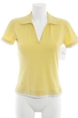 Bogner Polo-Shirt gelb-wollweiß Casual-Look