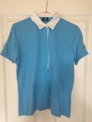 Bogner Poloshirt mit Blusenkragen hellblau