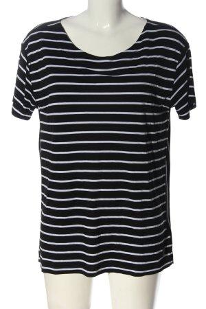 Bogner Camisa de rayas negro-blanco estampado a rayas look casual