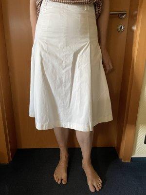 Bogner Falda a cuadros blanco puro-blanco Algodón