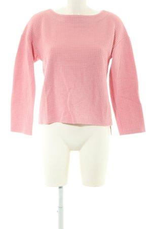 Bogner Rundhalspullover pink Allover-Druck Casual-Look