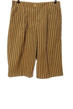 Bogner Shorts braun-blassgelb Streifenmuster Casual-Look