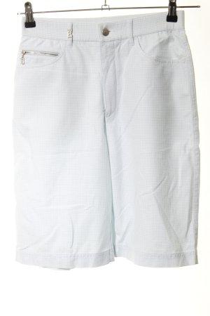 Bogner Shorts weiß-blau Karomuster Casual-Look