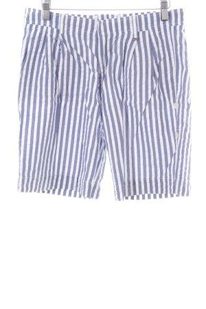 Bogner Shorts weiß-blau Streifenmuster Casual-Look