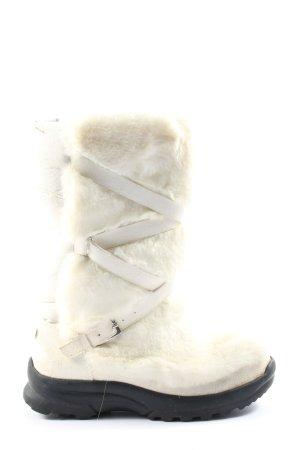 Bogner Ocieplane botki biały-czarny W stylu casual