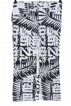 Bogner Jersey Pants white-black allover print casual look