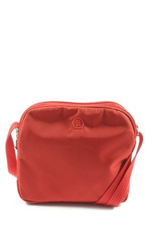 Bogner Sac en toile rouge lettrage brodé style décontracté