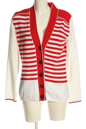 Bogner Gebreide cardigan rood-wit gestreept patroon casual uitstraling