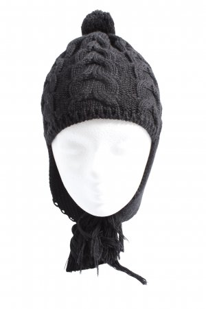 Bogner Knitted Hat black cable stitch casual look