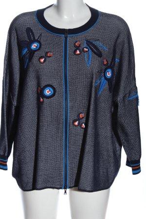 Bogner Sweat Jacket blue-white weave pattern casual look