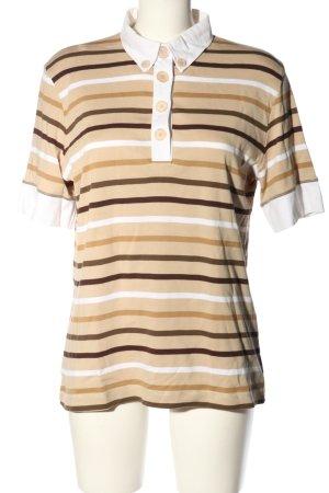Bogner T-Shirt braun-weiß Allover-Druck Casual-Look