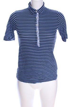 Bogner T-Shirt blau-schwarz Allover-Druck Casual-Look