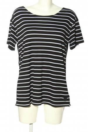 Bogner T-Shirt black-white striped pattern casual look