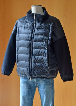Bogner Veste réversible bleu foncé laine