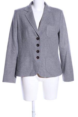 Bogner Blazer in lana grigio chiaro puntinato stile professionale