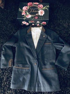 Bogner Wool Blazer dark blue-brown