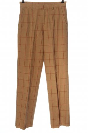 Bogner Woolen Trousers nude check pattern casual look