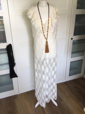 Boheme Zara Kleid laze Creamie weiß beige L 40