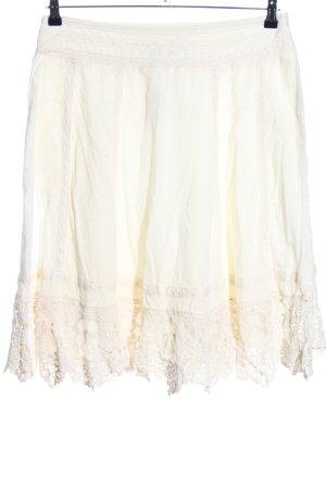 Bohemia Falda de encaje blanco puro look casual