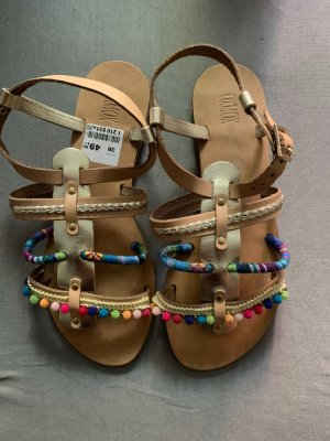 Oxmox Strapped Sandals light brown-blue