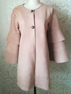 Robe manteau beige polyester