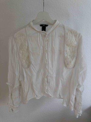 Boho Bluse in creme-weiß