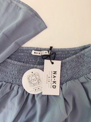 Boho Bluse Off Shoulder von Nakd Fashion Stone Blue Gr. 36 gesmockt
