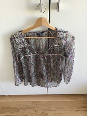 American Eagle Outfitters Transparante blouse veelkleurig