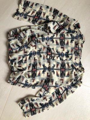 Mint&berry Blouse à manches longues multicolore tissu mixte