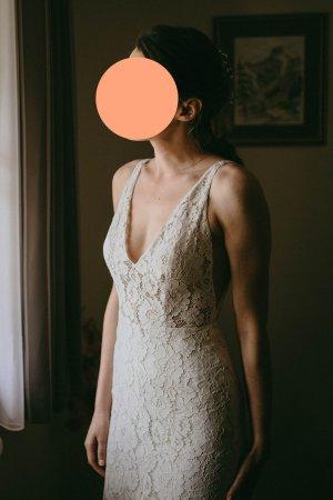 Sarah Seven Suknia ślubna w kolorze białej wełny