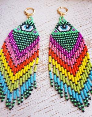 Handmade Orecchino a pendente multicolore