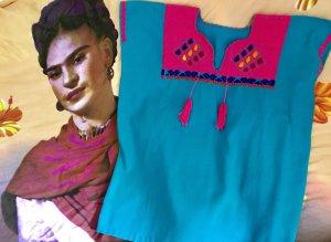 Boho Chic Mexikanische Bestickte Bluse Handgearbeitet