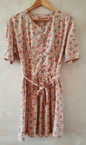 Boho chic vintage floral mini dress M/L