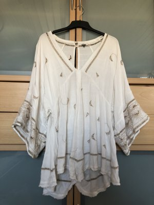 Free People Robe Hippie beige-blanc cassé